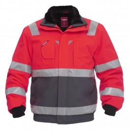 Куртка Engel Safety 1172-928, сигнальный красный/серый