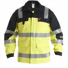 Антистатическая огнеупорная куртка Engel Safety + 1235-820, сигнальный желтый/черный