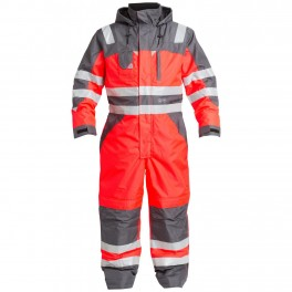 Комбинезон Engel Safety 4201-928, сигнальный красный/серый