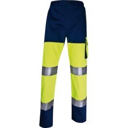 Светоотражающие брюки Panoply Delta Plus PH Pan, сигнальный желтый/синий
