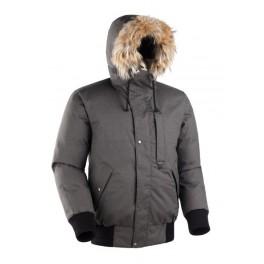 Мужская короткая куртка-парка БАСК TOBOL, темно-серый