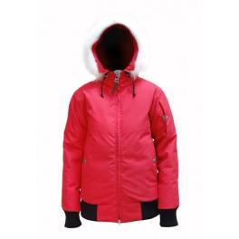 Женская пуховая короткая куртка БАСК YGRA HARD, красный