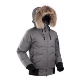 Женская пуховая короткая куртка БАСК YGRA SOFT, светло-серый