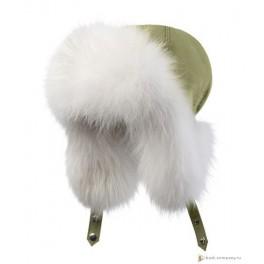 Женская меховая шапка БАСК OYMIAKON LH, хаки светлый
