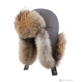 Мужская меховая шапка БАСК OYMIAKON MH, серый