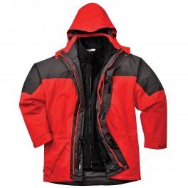 Водостойкая куртка Portwest S 570 3 в 1. Красно-чёрный