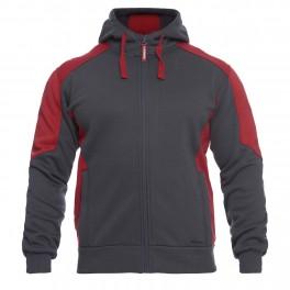 Флисовая куртка Engel Galaxy Sweat Cardigan 8820-233, Серый/красный
