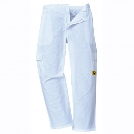 Антистатические брюки Portwest AS11, белые