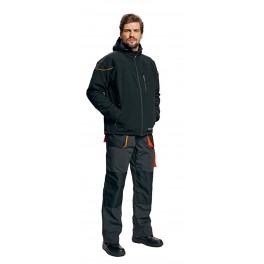 Рабочая куртка Softshell Cerva Эмертон (Emerton), Черный
