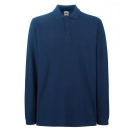 Футболка-поло Premium с длинными рукавами, Темно-синий