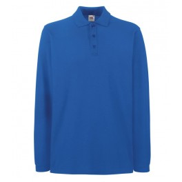 Футболка-поло Premium с длинными рукавами, Синий