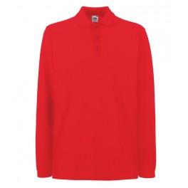 Футболка-поло Premium с длинными рукавами, Красный