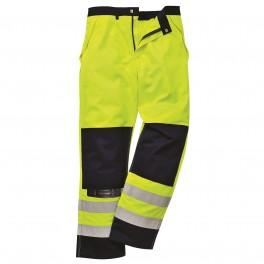 Антистатические огнеупорные брюки Portwest FR 62. Цвет сине-жёлтый.