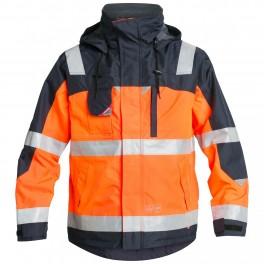 Демисезонная рабочая куртка Engel Safety 1001-928, сигнальный оранжевый/темно-синий