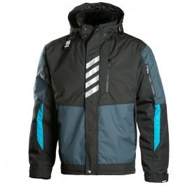Зимняя рабочая куртка Dimex 697, черный/светло-синий