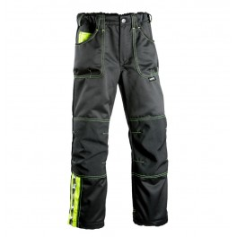 Детские брюки Dimex 6028, сигнальный желтый/черный