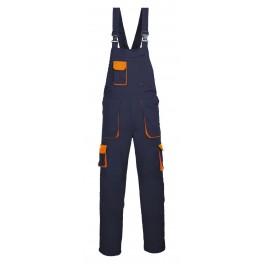 Рабочий полукомбинезон Portwest (Англия) TX12, Темно-синий / оранжевый