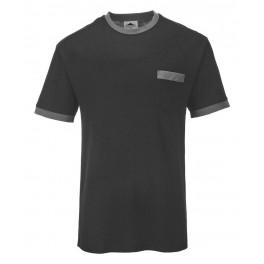 Футболка Portwest (Англия) TX22, Чёрный / серый