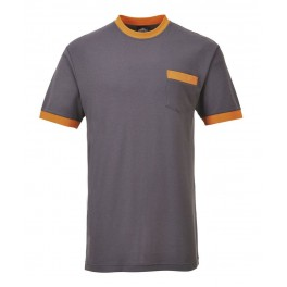 Футболка Portwest (Англия) TX22, Серый / оранжевый