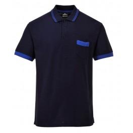 Футболка-поло Portwest (Англия) TX23, Темно-синий / синий