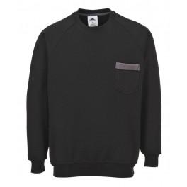 Рабочая толстовка Portwest (Англия) TX23, Чёрный / серый