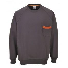 Рабочая толстовка Portwest (Англия) TX23, Серый / Оранжевый