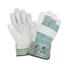 Перчатки спилковые комбинированные 0112