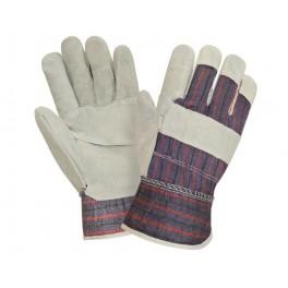 Перчатки спилковые комбинированные 0115 (СВ313)