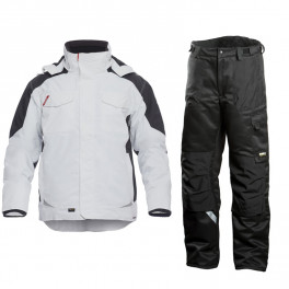 Зимний костюм Engel Galaxy 1410-354 + Dimex 682, белый/черный