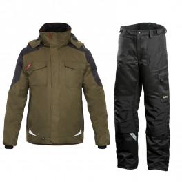 Зимний костюм Engel Galaxy 1410-354 хаки/черный + Dimex 682