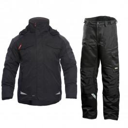 Зимний костюм Engel Galaxy 1410-354 черный/серый + Dimex 682