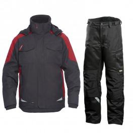 Зимний костюм Engel Galaxy 1410-354 + Dimex 682, серый/красный/черный