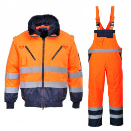 Зимний костюм Portwest PJ50 + S489 оранжевый
