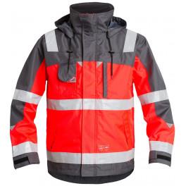 Куртка Engel Safety 1001-928, сигнальный красный/серый