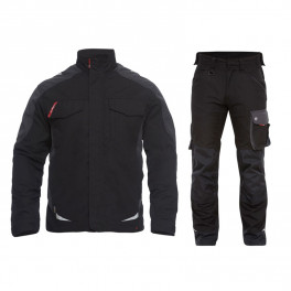 Летний рабочий костюм Engel 1810-254 + 2810-254, черный/серый