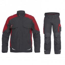 Летний рабочий костюм Engel 1810-254 + 2810-254, серый/красный