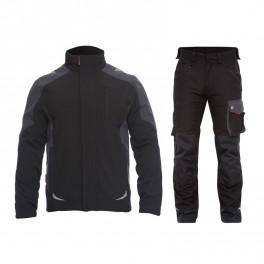 Летний костюм Engel 8810-229 + 2810-254, черный/серый