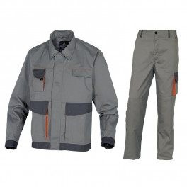 Летний костюм Delta Plus DMVes+DMPan, светло-серый/оранжевый