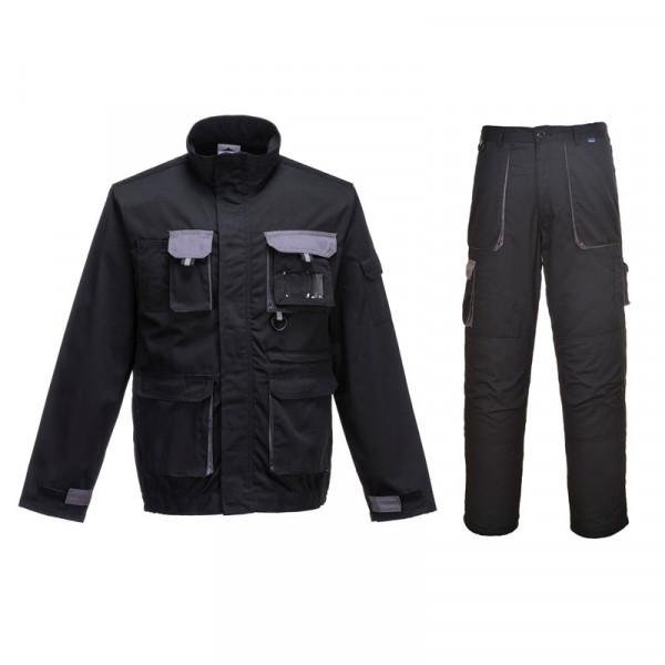 Летний костюм Portwest TX10+TX11, черный/серый