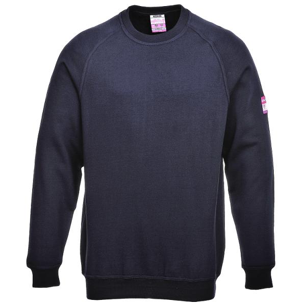 Огнезащитная антистатическая рубашка-поло Portwest FR12. Тёмно-синий.