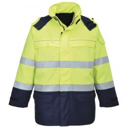Антистатическая огнеупорная куртка Portwest FR61. Цвет сине-жёлтый.