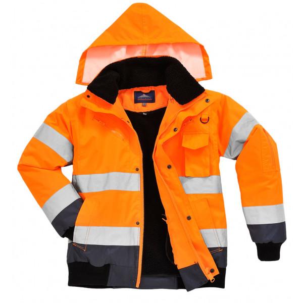 Зимняя светоотражающая куртка Portwest C465 3в1, оранжевый, тёмно-синий