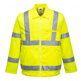 Летняя сигнальная куртка Portwest E040, сигнальный желтый