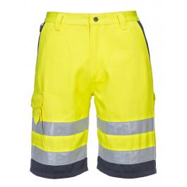 Светоотражающие шорты Portwest E043 (Англия). Жёлтый/тёмно-синий