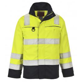 Антистатическая огнеупорная куртка Portwest FR61, сигнальный жёлтый/синий