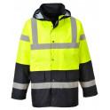 Зимняя светоотражающая куртка Portwest  S466, сигнальный желтый/черный