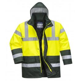 Зимняя светоотражающая куртка Portwest  S466, желтый/зеленый