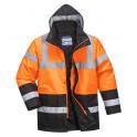 Зимняя светоотражающая куртка Portwest  S467 сигнальный оранжевый/черный