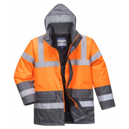 Зимняя светоотражающая куртка Portwest  S467 оранжевый-серый