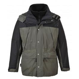 Утепленная дышащая куртка Portwest S532 3 в 1, серый/черный